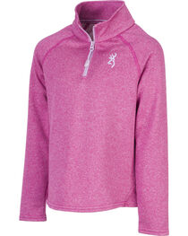 Browning Girls' Fuchsia Zinnia Quarter Zip Pullover , , hi-res