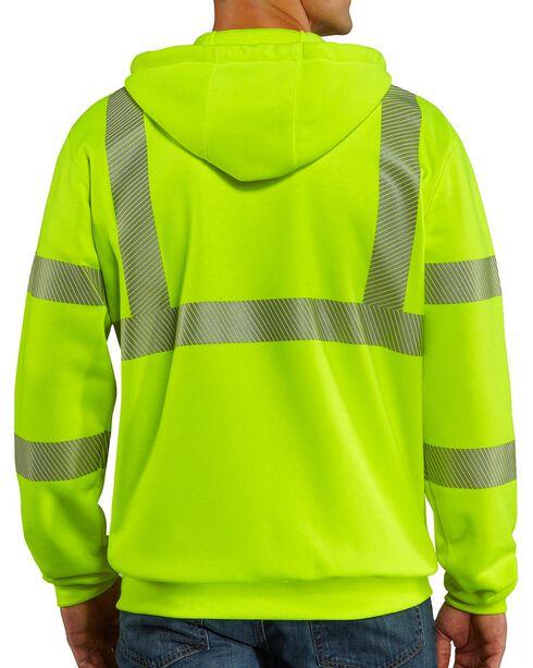 Carhartt High-Visibilty Zip-Front Class 3 Sweatshirt, Lime, hi-res