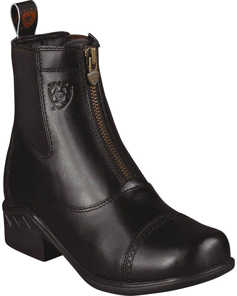 Ariat Women's Heritage Rt Zip Paddock Boots, Black, hi-res