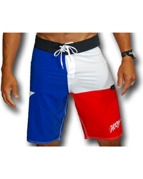 Hooey Men's Texas Flag Board Shorts , Red/white/blue, hi-res