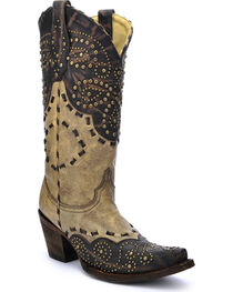 Corral Women's Studded Pattern Western Boots, , hi-res