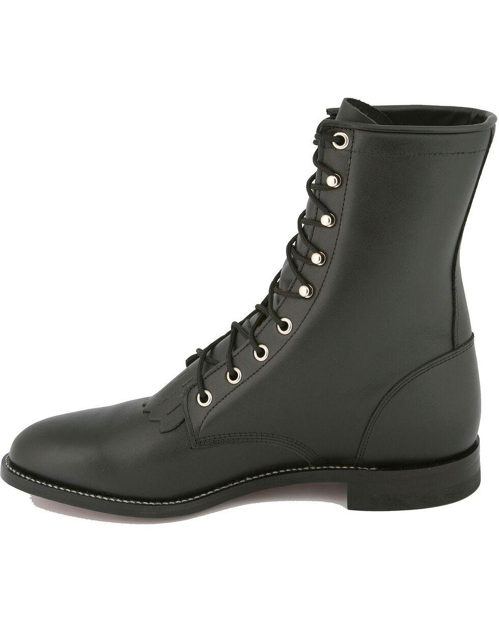 "Justin Men's Kiddie 8"" Western Boots, Black, hi-res"