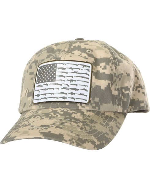 Cody James Men's Digi Camo Gun Flag Ball Cap, Camouflage, hi-res