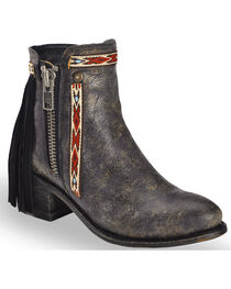 Corral Women's Fringe Ankle Booties, , hi-res