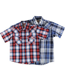 Ely Cattleman Boys' Assorted Plaid Short Sleeve Shirt, , hi-res