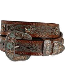 Nocona Women's Tooled Concho Belt, , hi-res