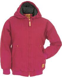 Berne Youth Kids' Washed Sherpa-Lined Hooded Jacket, , hi-res