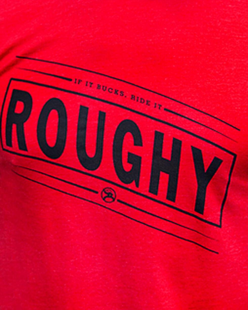Hooey Men's Bucker Roughy Short Sleeve Tee, Red, hi-res