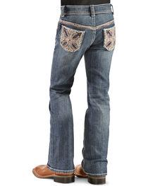 Grace in L.A. Girls' Colorful Stitch Bootcut Jeans - 4-6X, , hi-res