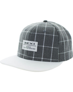 BEX Men's Grey Drais Baseball Cap , Grey, hi-res