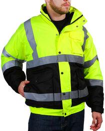 American Worker Men's Bomber Jacket - Big, Bright Yellow, hi-res
