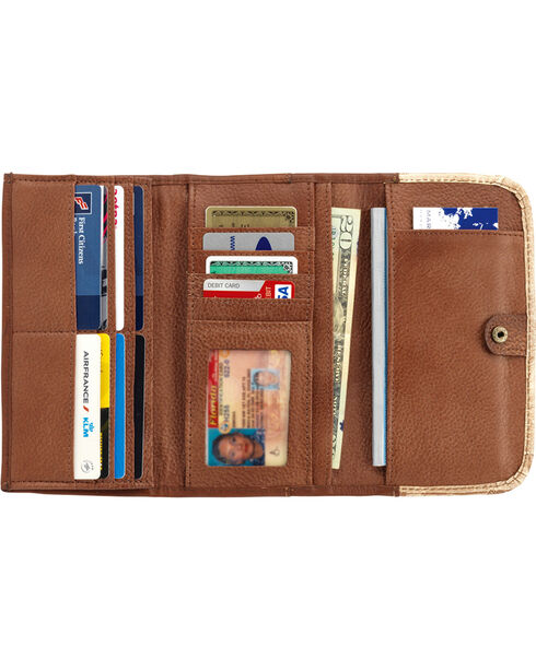 American West Mohave Canyon Ladies' Chestnut Brown Tri-Fold Wallet, Chestnut, hi-res