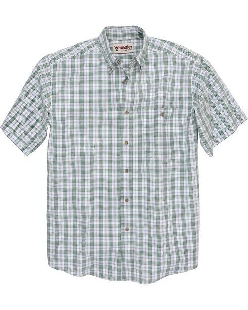 Wrangler Men's Rugged Wear Blue Ridge Plaid Shirt , Green, hi-res