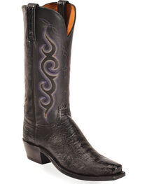 Lucchese Women's Black Yvette Ostrich Leg Western Boots - Square Toe , , hi-res