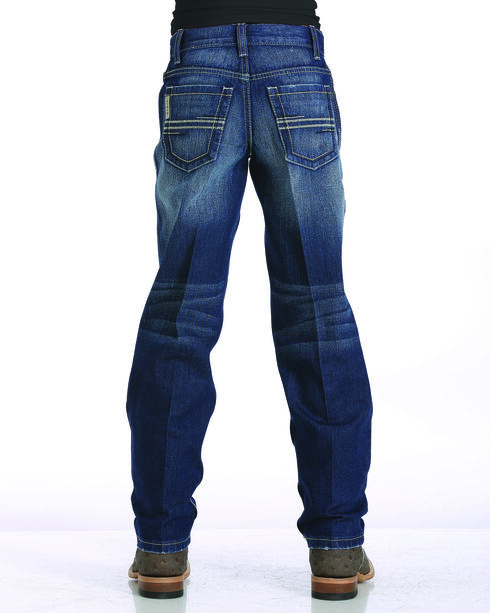 Cinch Boys' Sawyer Straight Leg Jeans, Indigo, hi-res