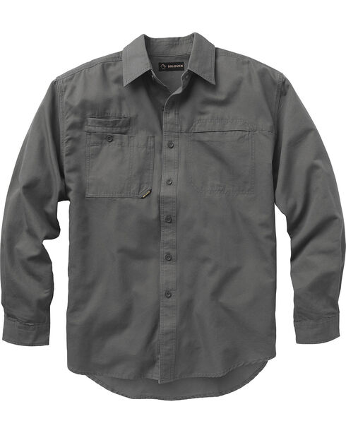 Dri Duck Men's Mason Work Shirt, Grey, hi-res