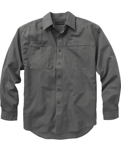 Dri Duck Men's Mason Work Shirt - Big and Tall, Grey, hi-res