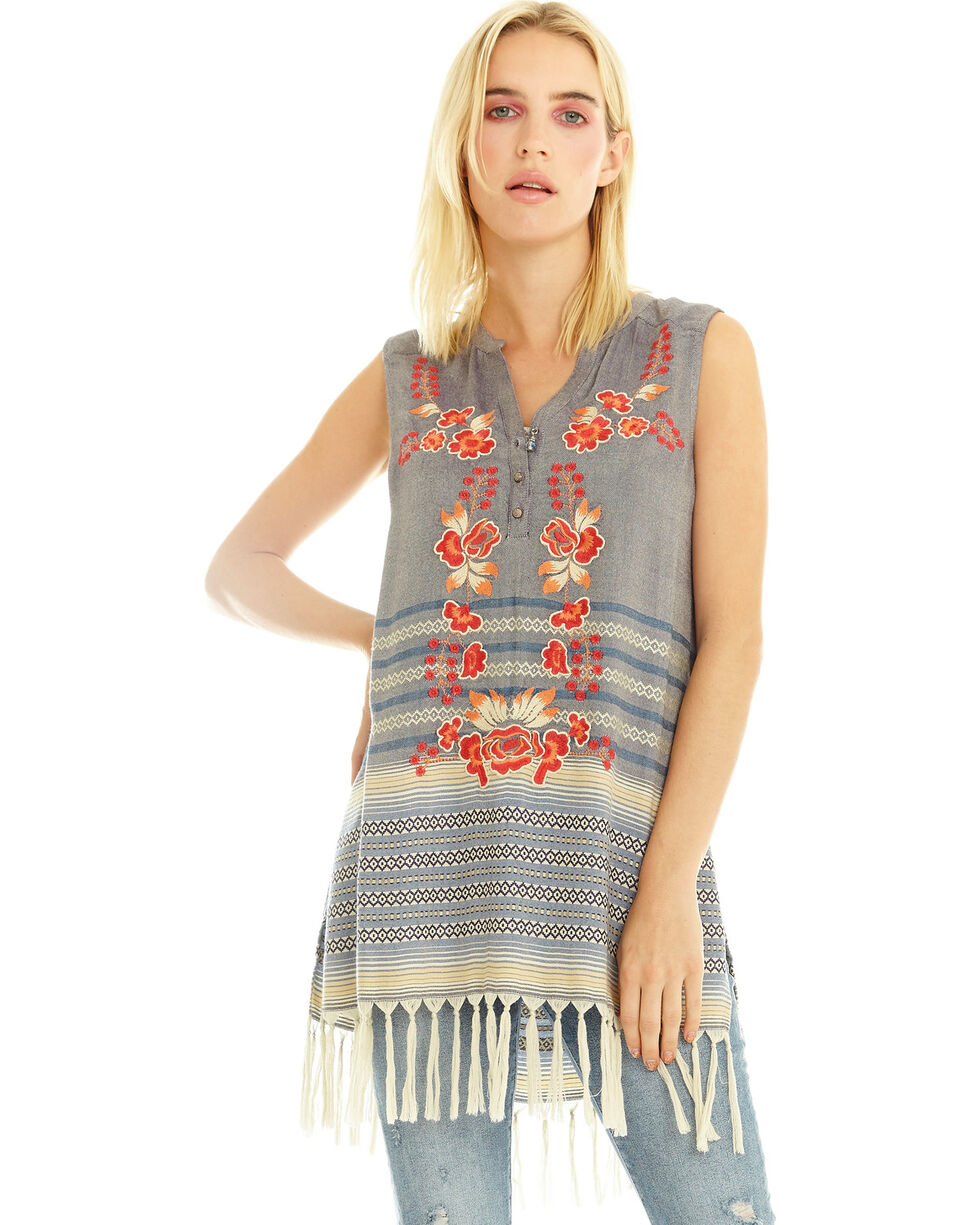 Aratta Women's Blue Dusk Top, Indigo, hi-res