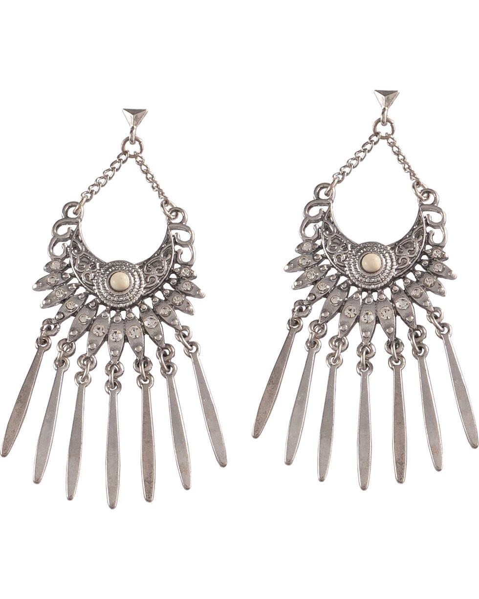 Shyanne Women's Bling Chandelier Statement Earrings, Ivory, hi-res