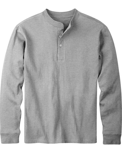 Mountain Khakis Men's Heather Grey Trapper Henley Shirt, Hthr Grey, hi-res