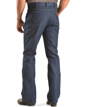 Wrangler Men's Slim Fit Traditional Boot Cut Jeans, Indigo, hi-res