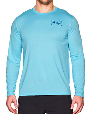 Under Armour Men's Fishing Long Sleeve Performance Shirt, Blue, hi-res