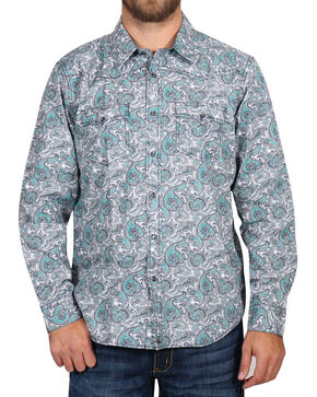 Cody James Men's Rodeo Paisley Long Sleeve Shirt - Big, Grey, hi-res