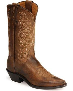 Tony Lama Women's Stallion Americana Western Boots, Brown, hi-res