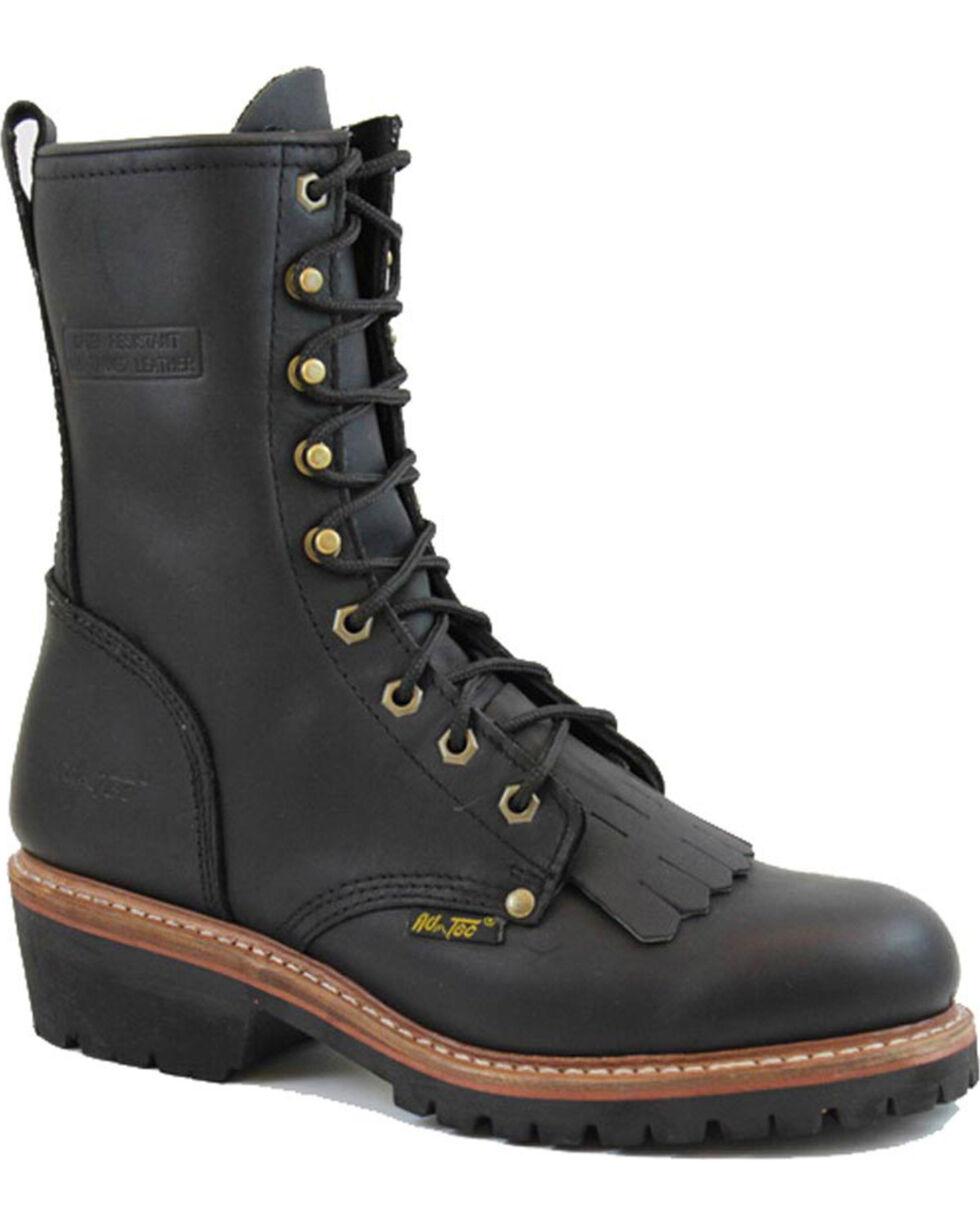 """Ad Tec Men's Fireman Logger 10"""" Uniform Boots, Black, hi-res"""