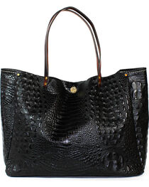 SouthLife Supply Women's Black Croc Medium Bucket Bag, , hi-res