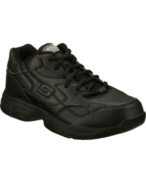 Skechers Women's Black Felton Albie Slip Resistant Work Shoes , Black, hi-res