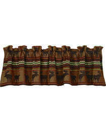 HiEnd Accents Bayfield Moose Valance, Multi, hi-res