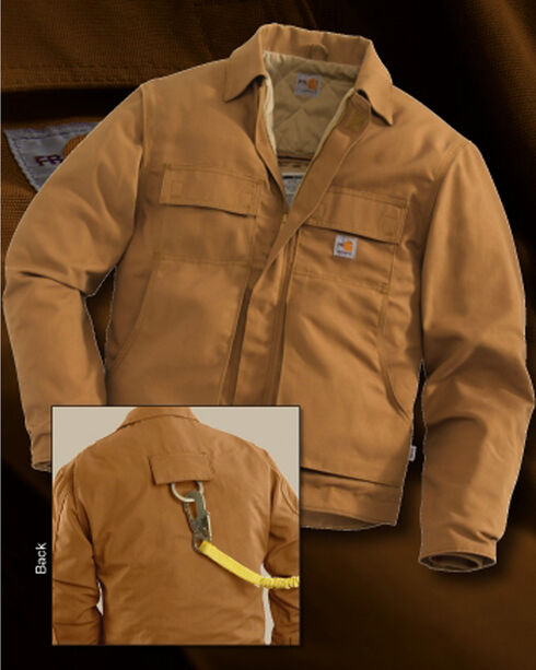 Carhartt Flame-Resistant Lanyard Access Quilt-Lined Jacket, Carhartt Brown, hi-res