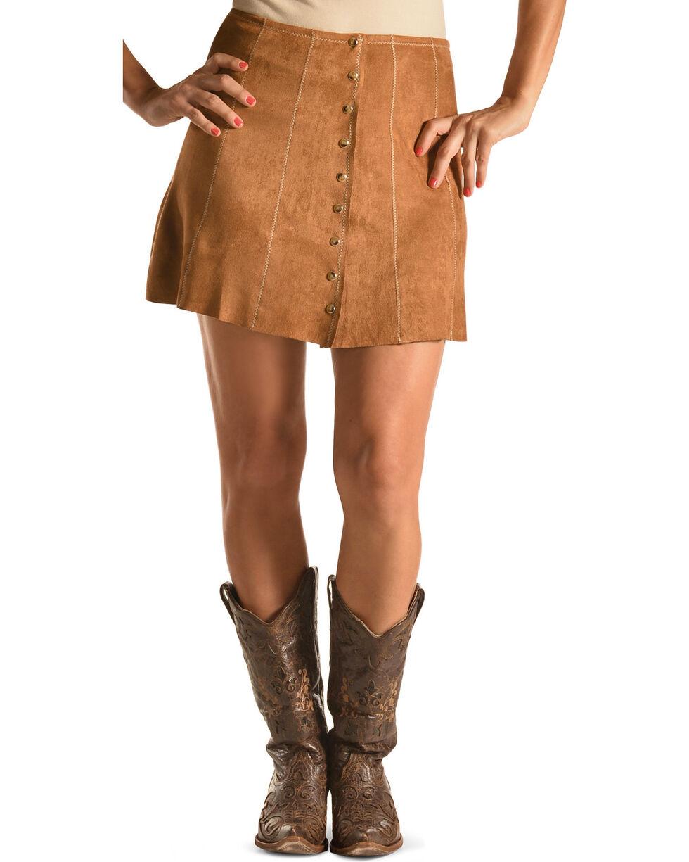 Tasha Polizzi Women's Brown Christy Skirt , Camel, hi-res