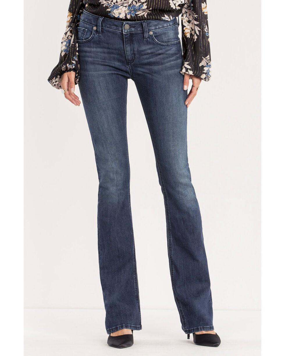 Miss Me Women's Danger Zone Mid-Rise Boot Cut Jeans , Indigo, hi-res