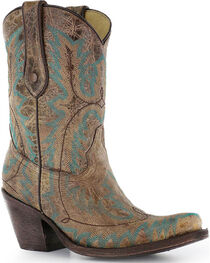 "Corral Women's 9"" Stitched Fashion Western Boots, , hi-res"