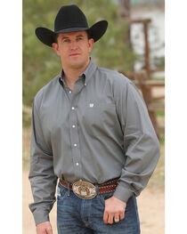 Cinch Men's Solid Dove Gray Button Long Sleeve Shirt, Grey, hi-res