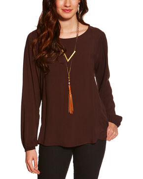 Ariat Women's Brown Kori Top , Brown, hi-res