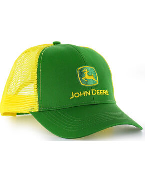 John Deere Embroided Logo Snap-Back Ball Cap, Green, hi-res