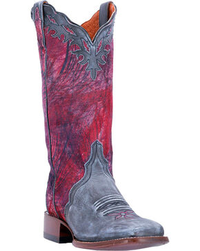 Dan Post Women's Pink Margie Western Boots - Square Toe , Pink, hi-res