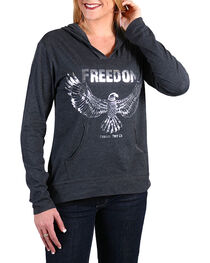 Cowgirl Tuff Women's Freedom Hoodie Shirt, , hi-res