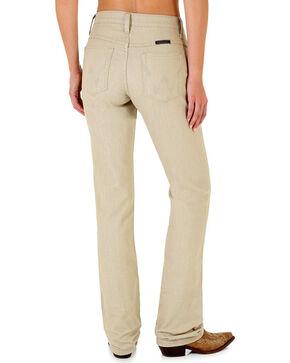 Wrangler Women's Q-Baby Khaki Boot Cut Jeans, Beige/khaki, hi-res