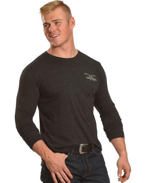 Cody James Men's Don't Mess Long Sleeve Graphic Tee, Black, hi-res