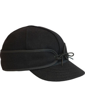 Stormy Kromer Men's Black Original Cap, Black, hi-res
