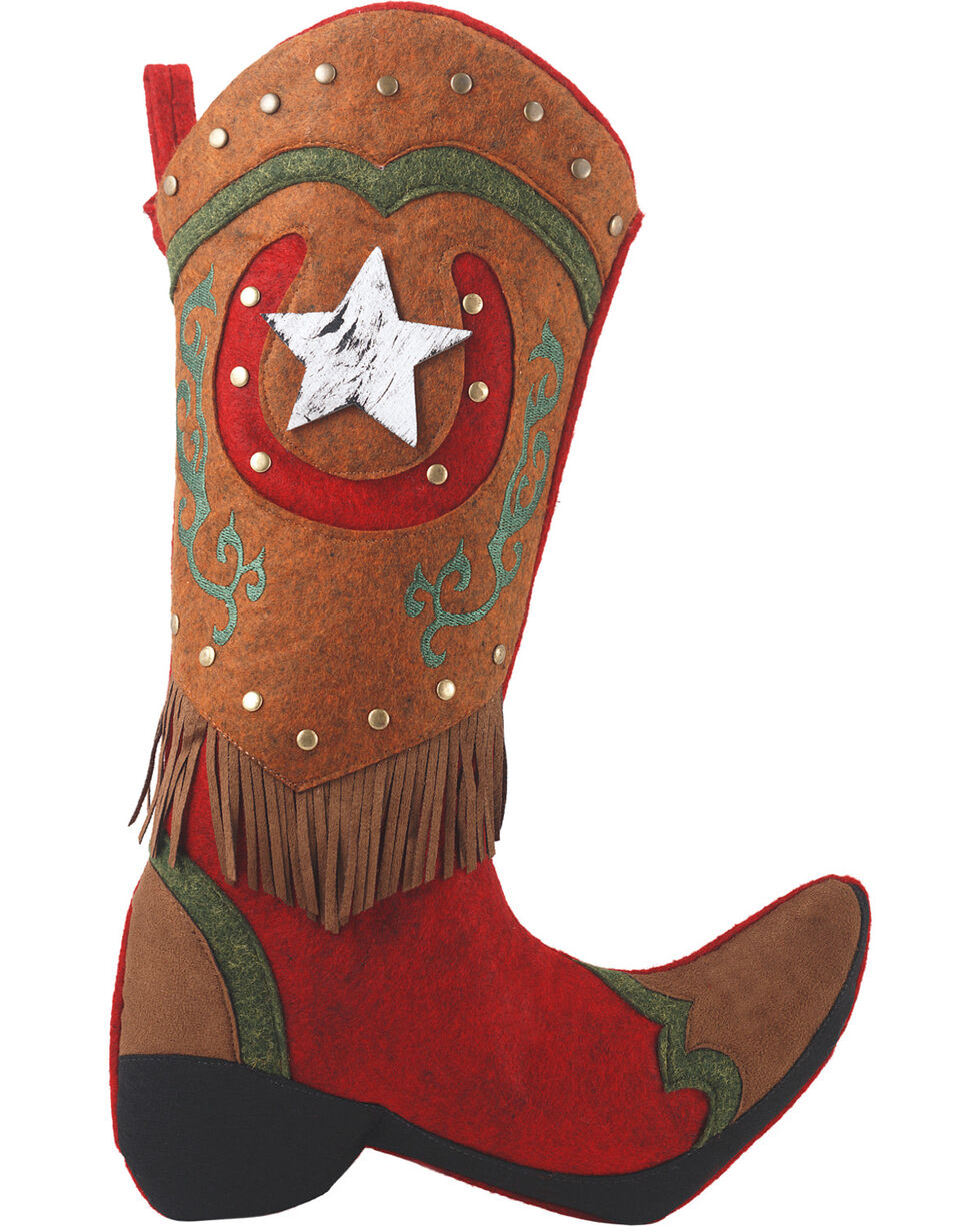 BB Ranch Boot Fabric Stocking, No Color, hi-res