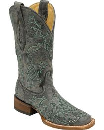 Corral Women's Studded Cross Overlay Western Boots, , hi-res