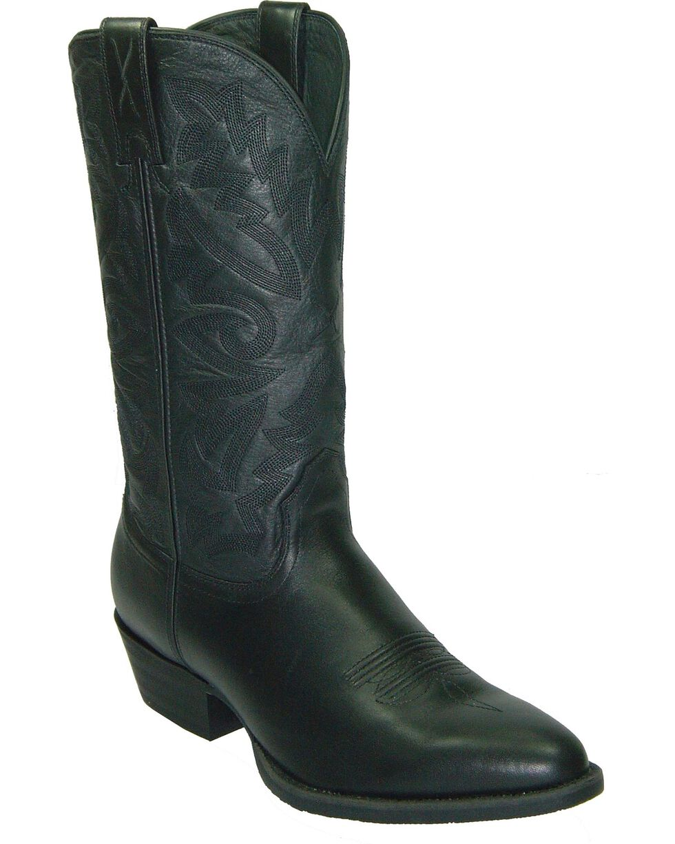 Twisted X Men's Round Toe Western Boots, Black, hi-res