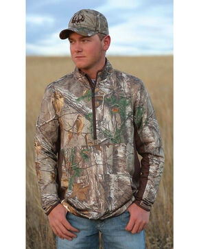 Cinch Camo Half-Zip Lightweight Tech Pullover Shirt, Multi, hi-res