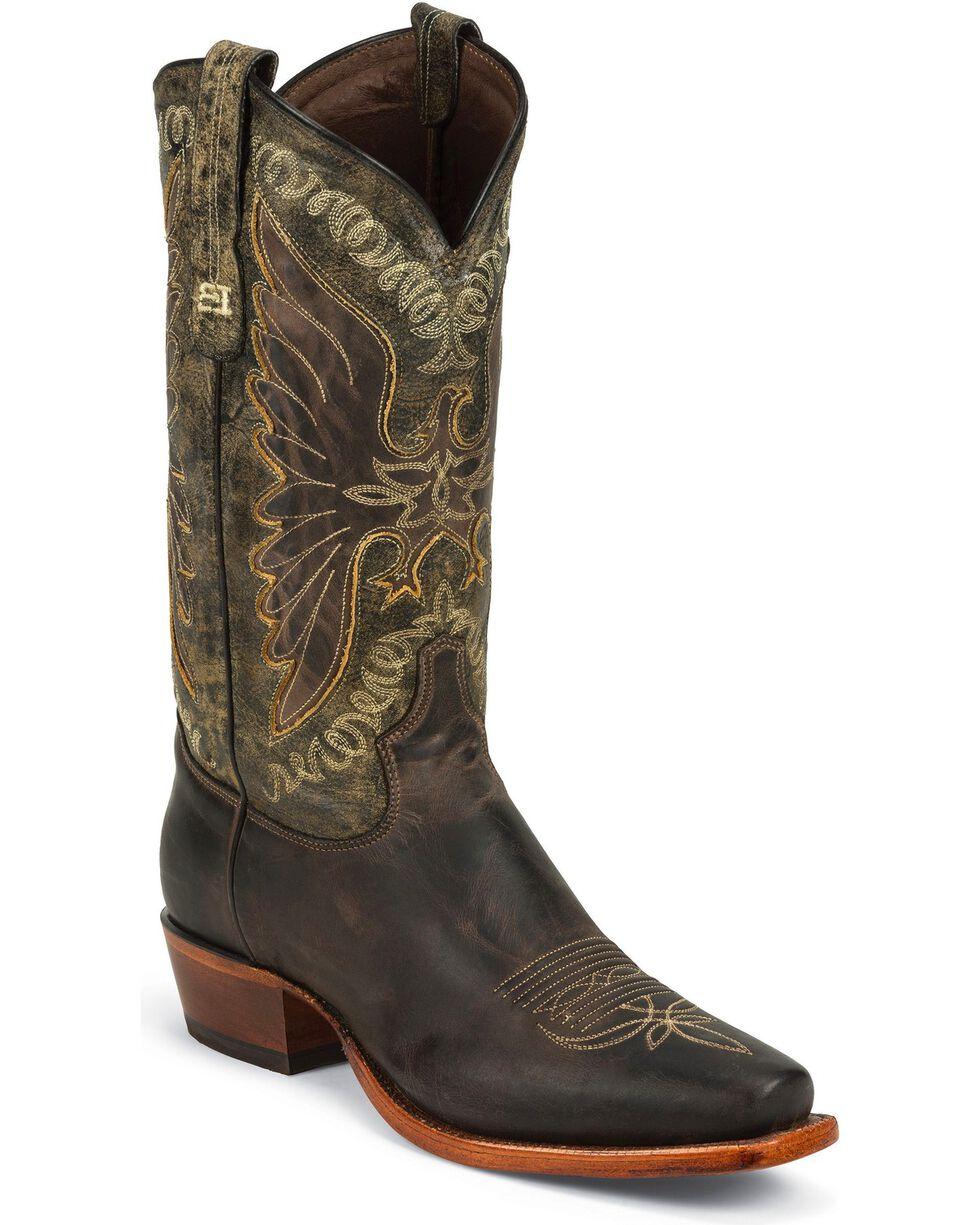 Tony Lama Men's Black Label Western Boots, Brown, hi-res