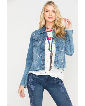 Velvet Heart Women's Jameson Stars Denim Jacket, Blue, hi-res